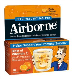 Airborne is one of our go-to remedies when cold symptoms hit.