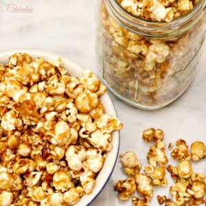 This sweet and salty brown sugar popcorn is one of the handmade gifts I give at Christmas.