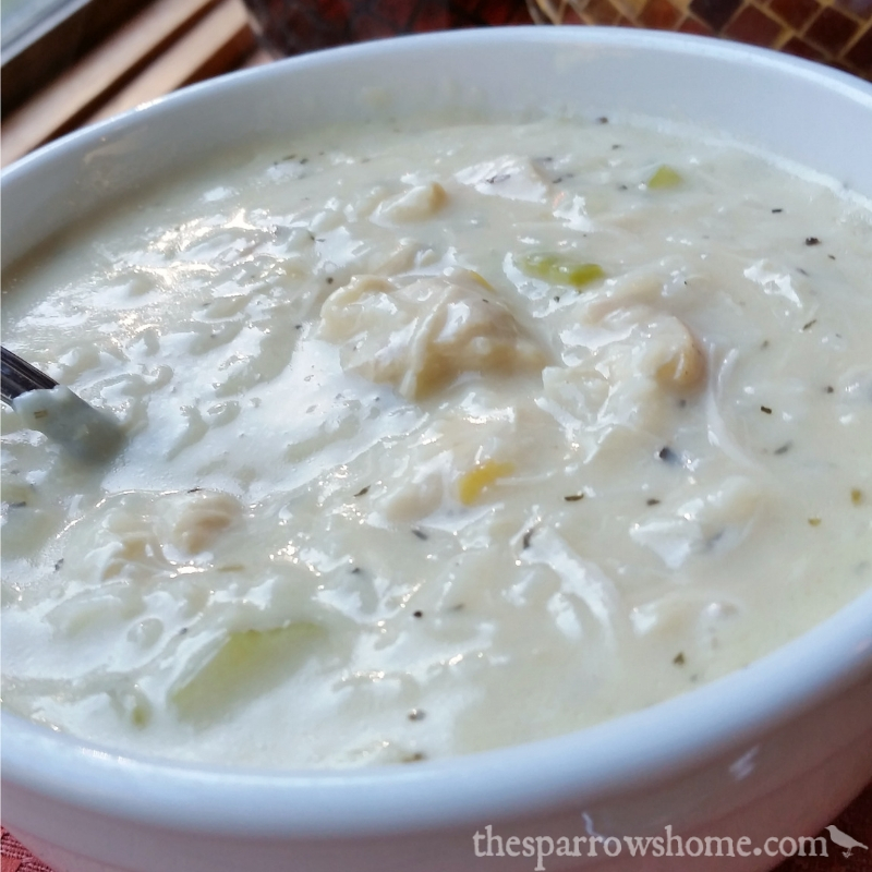 This thick and creamy chicken and rice soup is easier to make than you might think.
