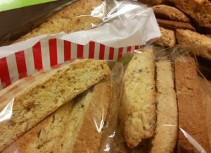 These crunchy Almond Biscotti make the best handmade gifts! I like to give them with some hot chocolate mix for dunking!