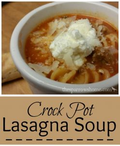 This lasagna soup for the crock pot is hearty and satisfying! Perfect for a busy day, a cold day, or a day you just want a big bowl of comfort food.
