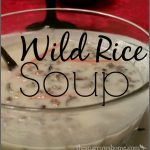 Wild rice soup with a silky, creamy broth.