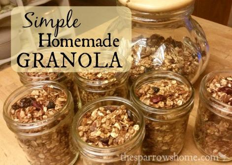 Simple Homemade Granola | The Sparrow's Home