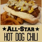 Easy hot dog chili recipe to make the best chili dogs ever! Click here for the recipe.