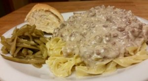 This easy hamburger stroganoff is quick to put together for a weeknight dinner. Click here for the recipe!