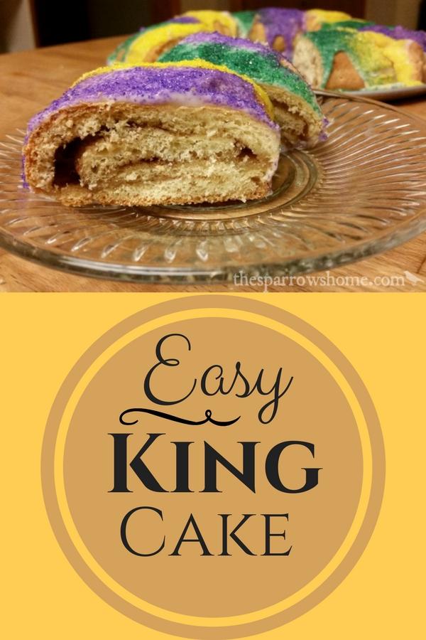 Easy King Cake for Mardi Gras