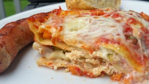 This fresh, vegetable lasagna is like summer on a plate. Yum!