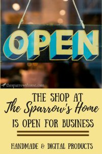 Grand opening of the Shop at The Sparrow's Home. Our first products include handmade herbal salve, and an ebook showing you how to save thousands on college expenses.