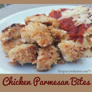 Chicken Parmesan Bites. Crispy, tasty, and easy!