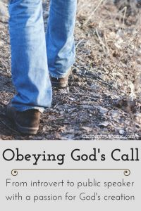 When you obey God's call, he can do things through you that you never thought possible!