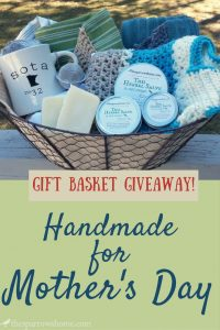 Gift Basket of Handmade Goodies for Mother's Day!