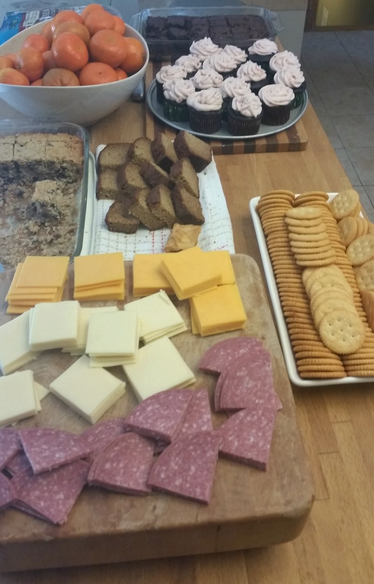 Elevenses, luncheon and tea time spread for our Lord of the Rings movie marathon.