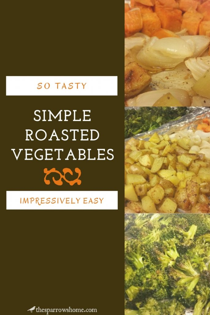 These simple roasted vegetables are an easy and impressive side dish