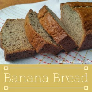 This is the best banana bread recipe I've found!