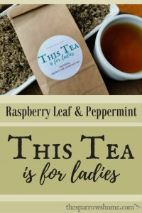 This Tea is for Ladies. We've experienced less cramping, lighter flow, and more regulated periods. Hand blended organic raspberry and peppermint leaf.