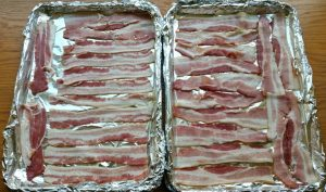 Bacon in the oven is the easiest way to make bacon with much less mess!