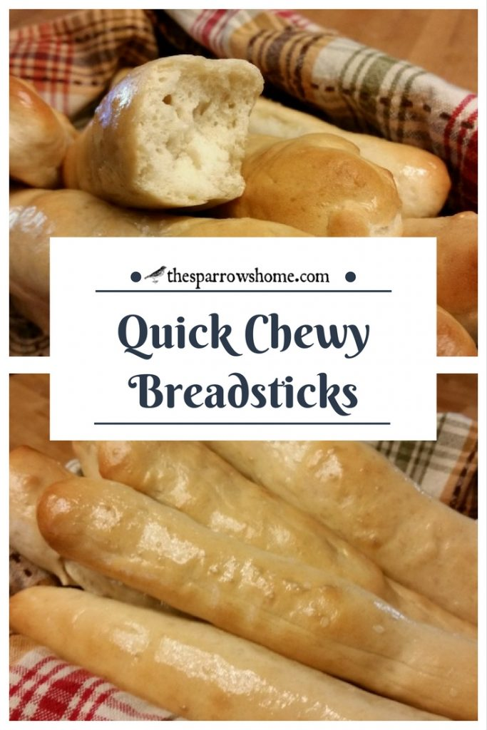 These chewy breadsticks are so quick and easy!