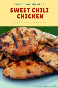 Sweet chili chicken. This is our new favorite marinade/glaze. SO Yummy!!