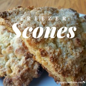 I love these freezer scones so much! Scones are best fresh from the oven, and this makes that possible even on the busiest morning.