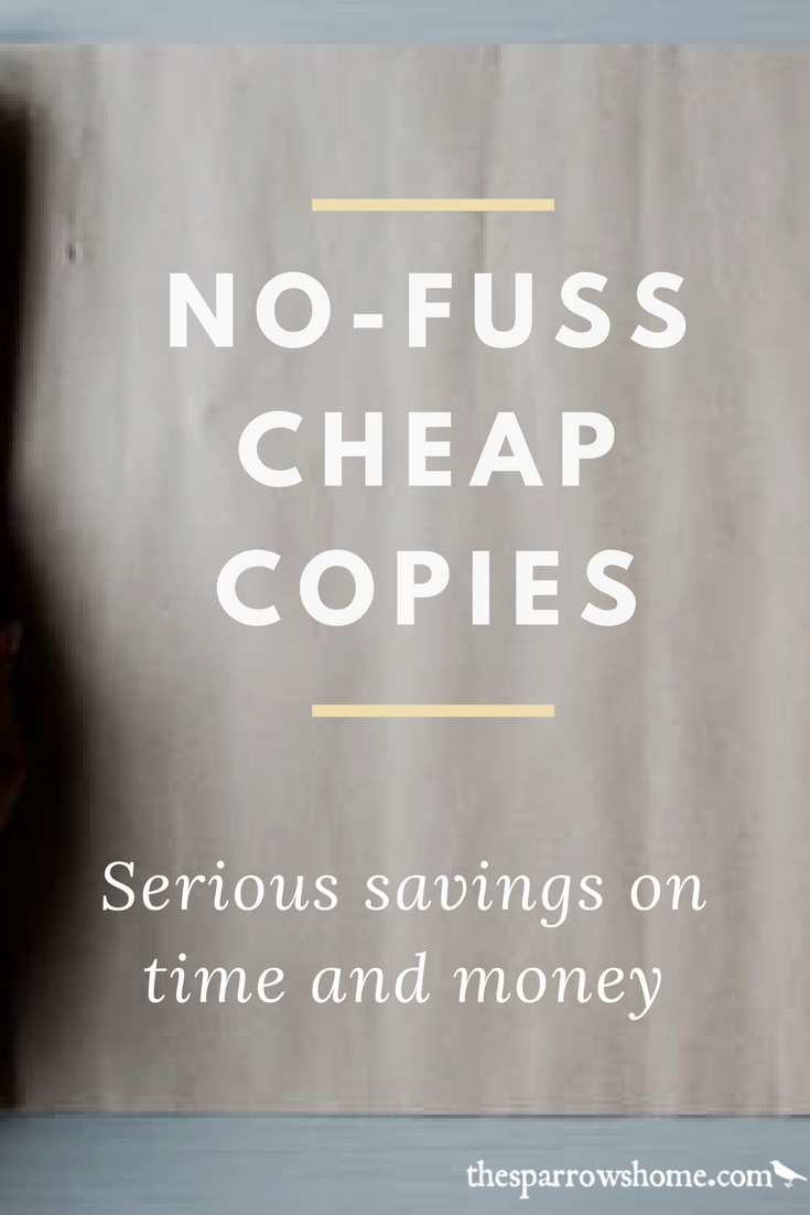 No-fuss, cheap copies from The Homeschool Printing Company. Click here to read my review and find out how to save 10% on your first order!