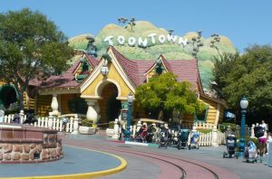 When you're in Toontown at Disneyland, you'll feel like you're walking around in a cartoon!