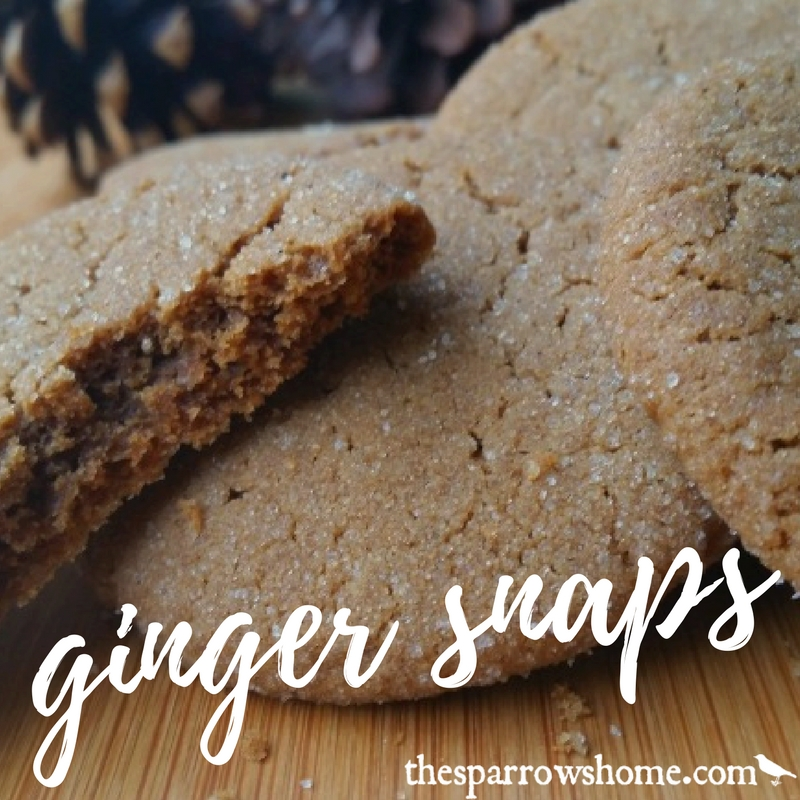 Ginger snaps. The perfect cookie for autumn and winter. Sweet and spicy.