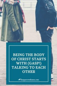 Real ways to begin to build relationships at church...to build the body of Christ.