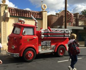Seeing life sized vehicles is only one thing that makes you feel like you're really in Radiator Springs at Cars Land, Disneyland.
