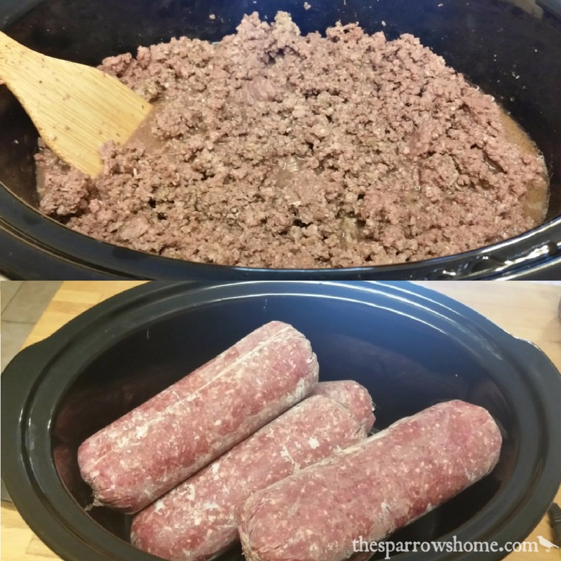 This is such an easy method for making ground beef in the crock pot!