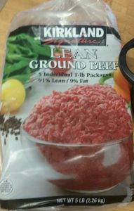 I buy my ground beef in bulk at Costco.