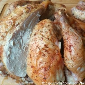 Simple ingredients and a unique method produce a roasted chicken that tops any rotisserie chicken!