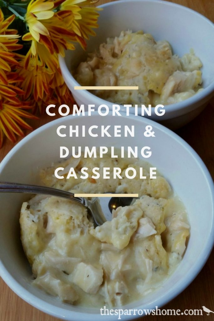 This easy baked casserole has the same comforting flavors of chicken and dumplings. Yum!