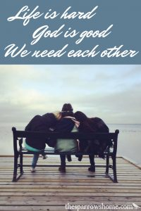 We can pray for each other even if we see the world differently or live very different lives.