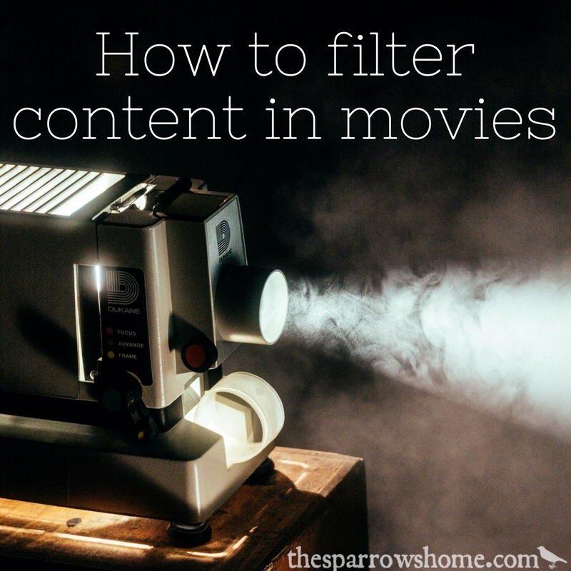 Being able to filter content in the movies we watch is a game changer!