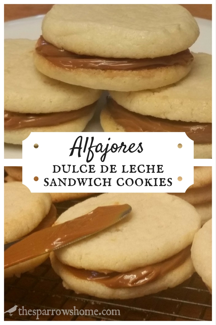 Alfajores. Sweet sandwich cookies filled with Dulce de Leche. Amazing!!