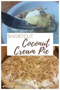 Shortcut Coconut Cream Pie. It's amazing how such an easy recipe can be so rich and delicious!