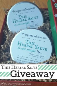 Win 2 of the large 4 oz size tins of This Herbal Salve!