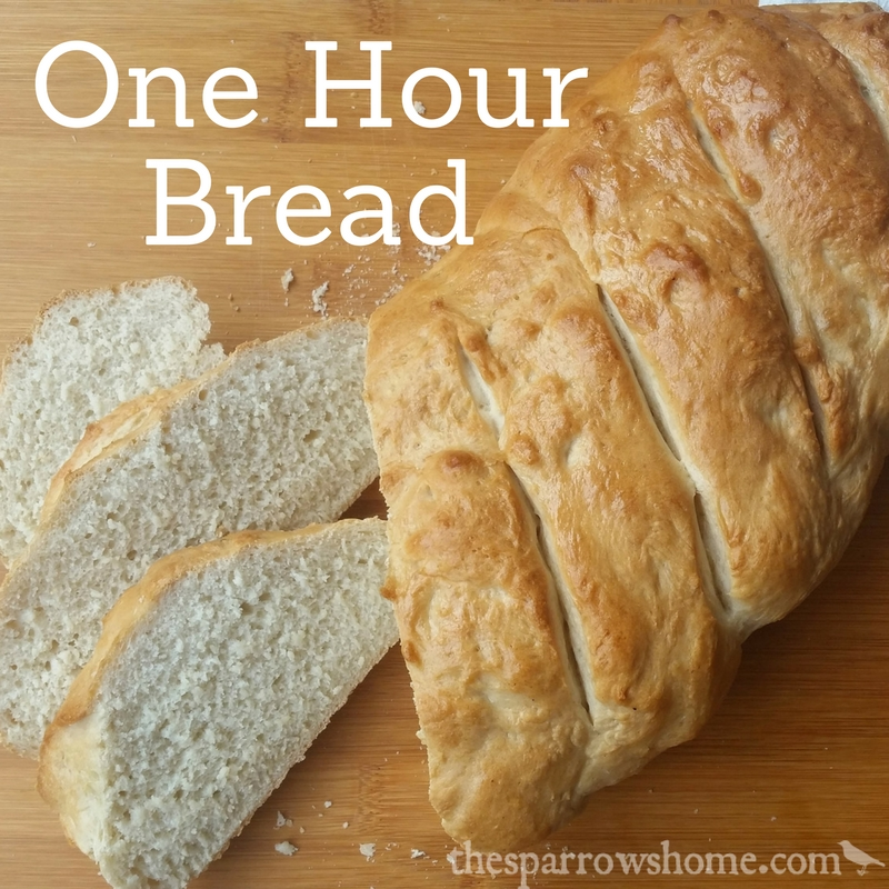 One Hour Bread Fast Easy Italian Bread Recipe The Sparrow S Home
