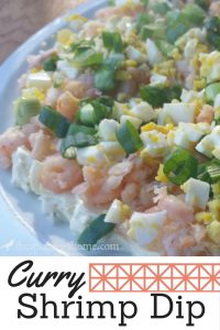 This curry shrimp spread has just the right amount of spice. It's an easy and impressive appetizer!