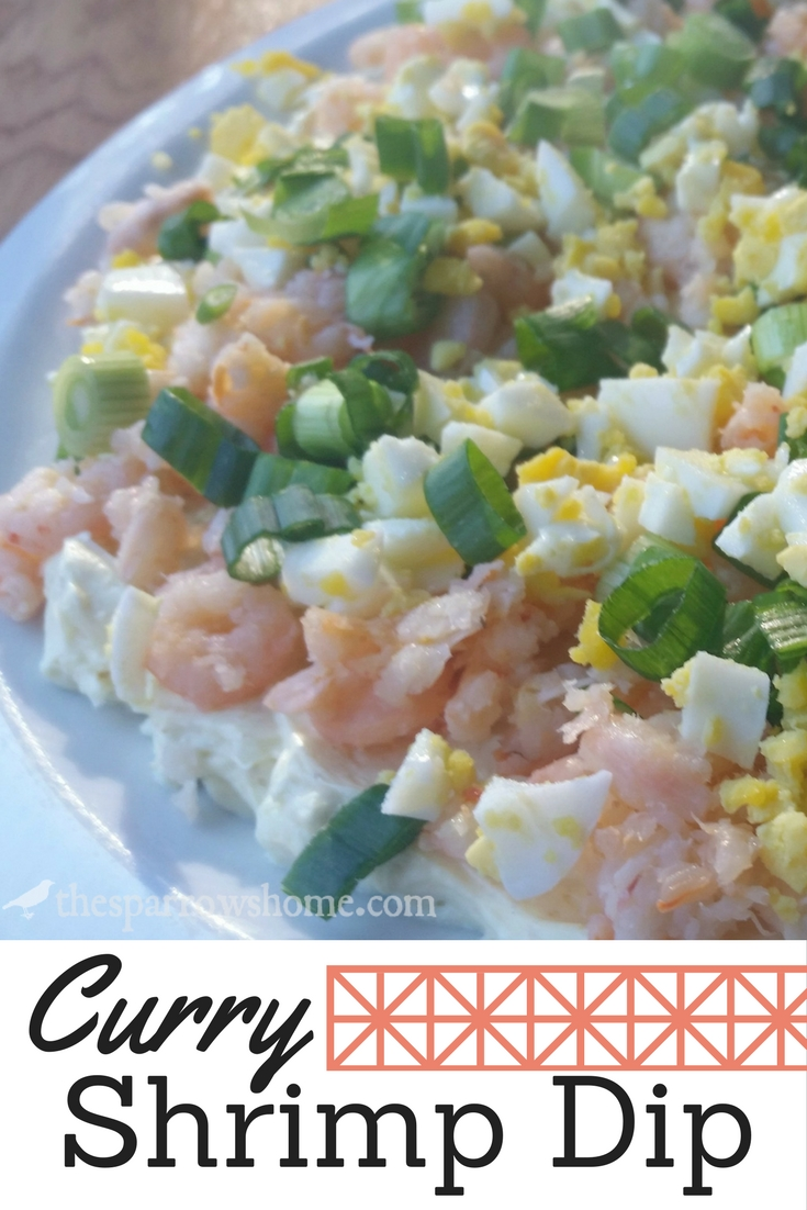 This curry shrimp spread has just the right amount of spice. It's an easy and impressive appetizer that only takes minutes to assemble. Served with crackers, it's kind of addictive!