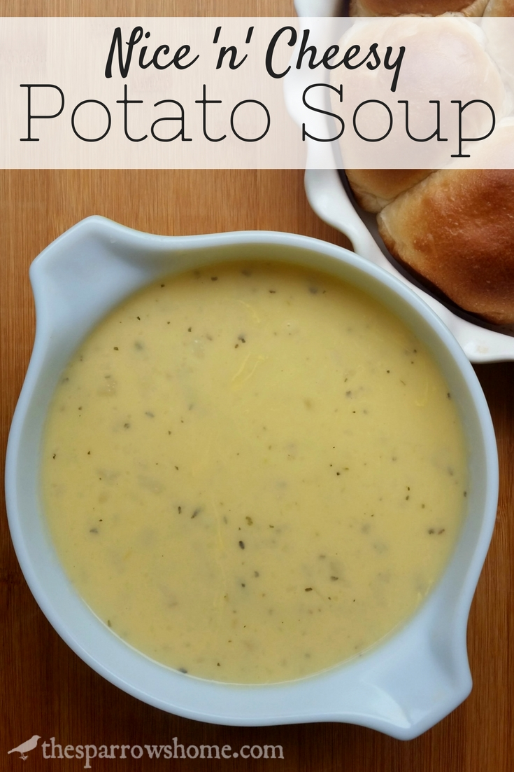 Fast and simple cheesy potato soup. This is the perfect comfort food!