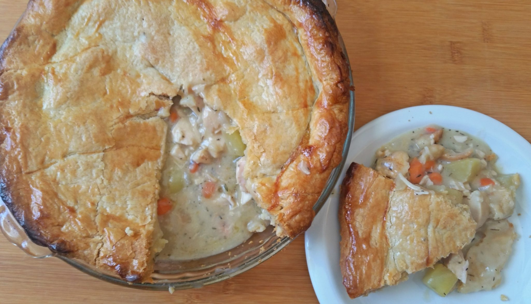 Chicken Pot Pie 2 Ways