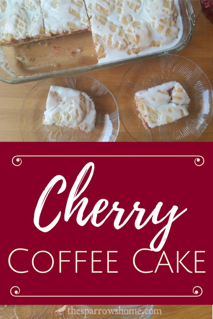 Buttery, sweet and tart cherry coffee cake. This easy coffee cake recipe is just as perfect for a special brunch as for a regular Tuesday morning.