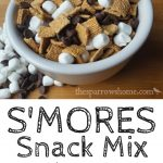 This super simple s'mores snack mix is made with just 3 ingredients. Mix it up and it's ready to serve. No baking, no melting...seriously, just mix and serve. It's the perfect, fun, sweet treat!