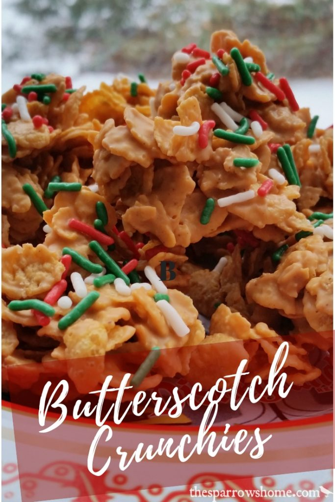 Peanut butter and butterscotch combine to make these sweet, rich no bake cookie. Butterscotch Crunchies are a staple on our Christmas cookie list.