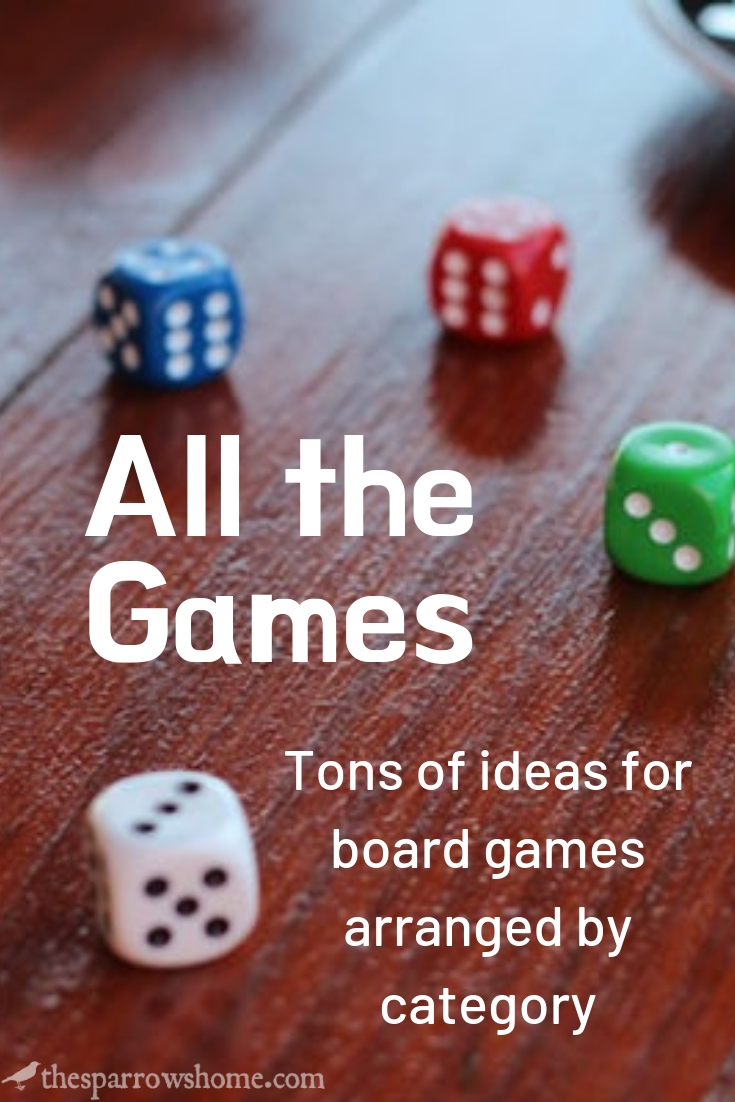 Lots of ideas here for board games for your family or for a gift, all arranged by category.