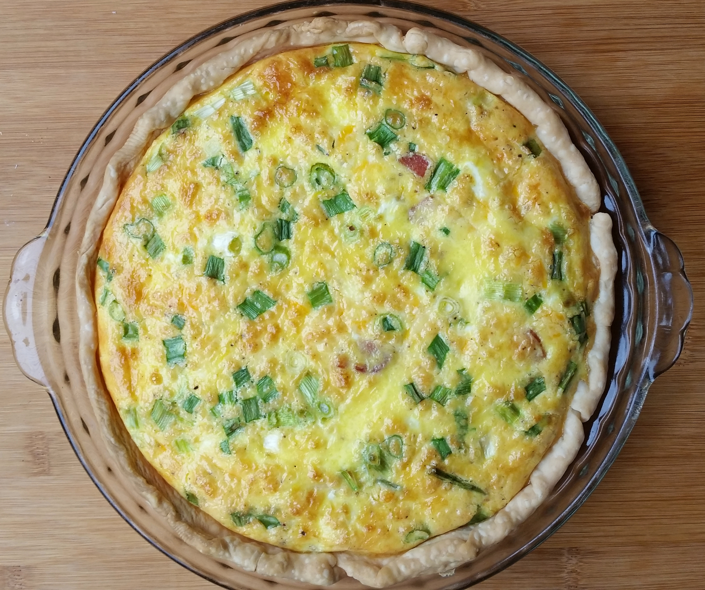 Easy make ahead quiche for the freezer