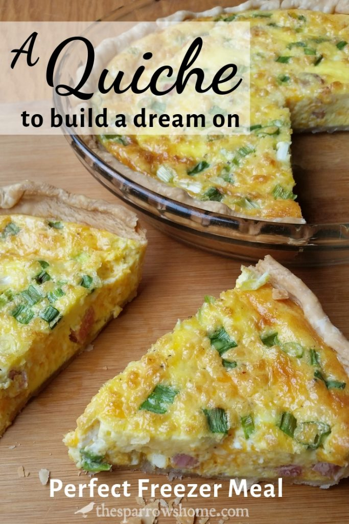 This easy quiche is one of my favorite freezer meals. It bakes up perfectly every single time for a quick dinner or an easy breakfast for house guests.