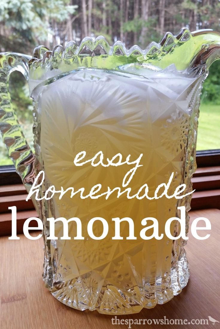 Easy homemade lemonade recipe. This is the perfect summer beverage. Perfectly sweet, tart and refreshing, and amazingly simple!