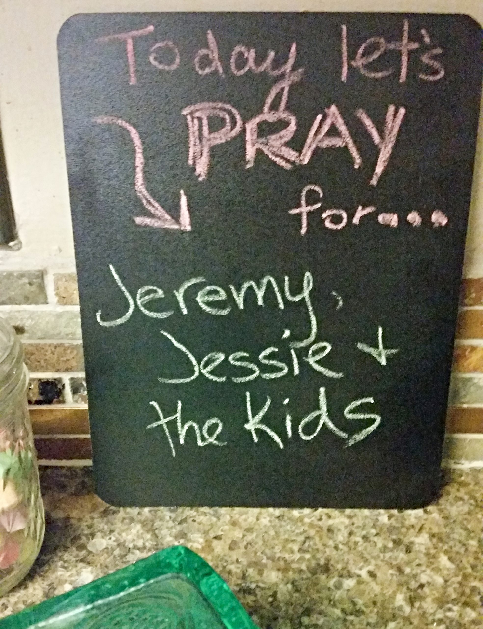prayer chalkboard